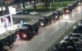 مشارکت ارتش ایتالیا در انتقال اجساد قربانیان کرونا در شهر «برگامو»