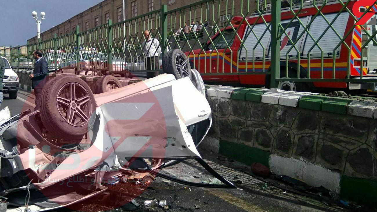 تصویر از حوادث : تصادف مرگبار «افشین آذری» خواننده پاپ ایرانی در تبریز