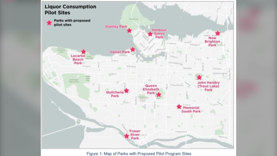 تصویر از نوشیدن الکل در پارک ها : تصمیم گیری در مورد برنامه آزمایشی در ونکوور