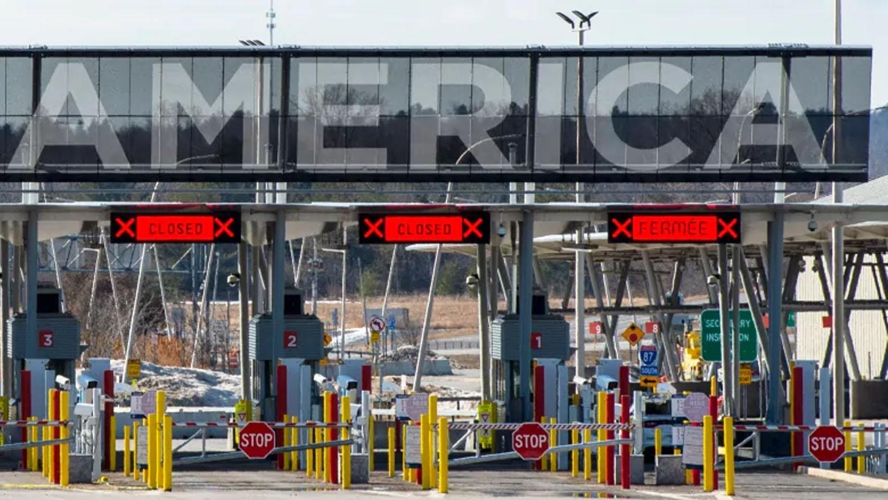 تصویر از مرز کانادا و امریکا با توافق مقامات مسئول برای 30 روز دیگر مسدود ماند