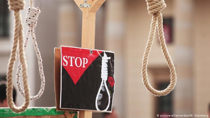 تصویر از هشتگ جدید : # اعدام معترضان ایرانی را متوقف کنید / کمپین بین المللی علیه مجازات اعدام