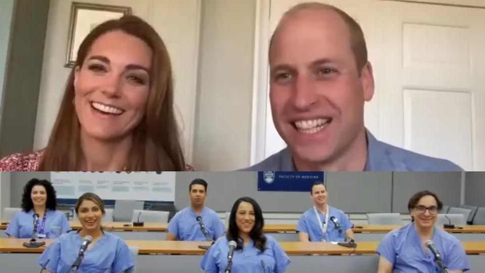 تصویر از قدردانی دوک و دوشس کمبریج از کارکنان بیمارستان بریتیش کلمبیا در روز کانادا
