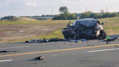 تصویر از تصادف 5 خودرو در پیکرینگ – انتاریو / یک زن کشته و یک مرد مجروح