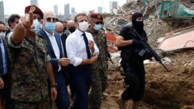 تصویر از امانوئل مکرون از بیروت بازدید و ضرب العجل برای بازسازی این بندر تعیین کرد