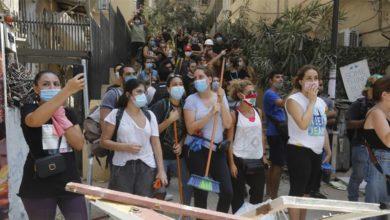 تصویر از لبنانی های خشمگین روز شنبه برای اعتراض به انفجار مهیب بیروت راهپیمایی می کنند
