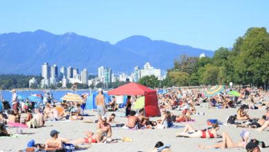 تصویر از گرم ترین روز سال را مردم در ونکوور چگونه گذراندند؟ + تصاویر