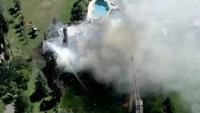 تصویر از آتش سوزی در اجکس _ انتاریو : چندین خانه طعمه حریق شدند