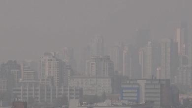 تصویر از آتش سوزی کالیفرنیا هوای مترو ونکوور را در بین بی کیفیت ترین هواهای جهان قرار داد