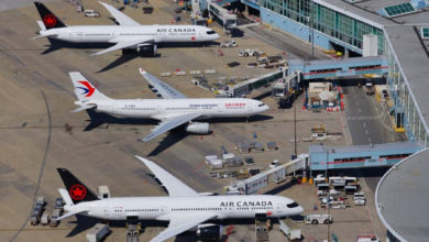 تصویر از مسافران 5 پرواز بریتیش کلمبیا در لیست هشدار کووید-19 قرار گرفتند
