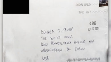 تصویر از زن مظنون به ارسال نامه رایسین به کاخ سفید در مرز امریکا _ کانادا دستگیر شد