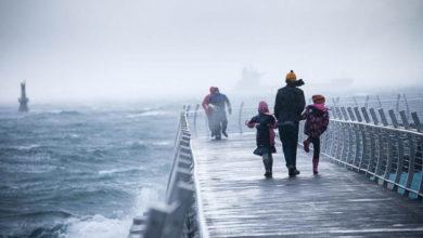 تصویر از اولین طوفان فعال در پاییز : پیش بینی باران شدید ، وزش باد شدید برای جزیره ونکوور