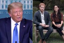 تصویر از دونالد ترامپ : از طرفداران مگان مارکل و پرنس هری نیستم