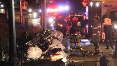 تصویر از سرعت غیرمجاز و شرایط جاده باعث تصادف و کشته شدن راننده خودرو لوکس اسپورت شد
