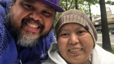 تصویر از زن بریتیش کلمبیایی از سرطان میمیرد اما بدلیل کووید19 اجازه دیدار خواهرش را ندارد
