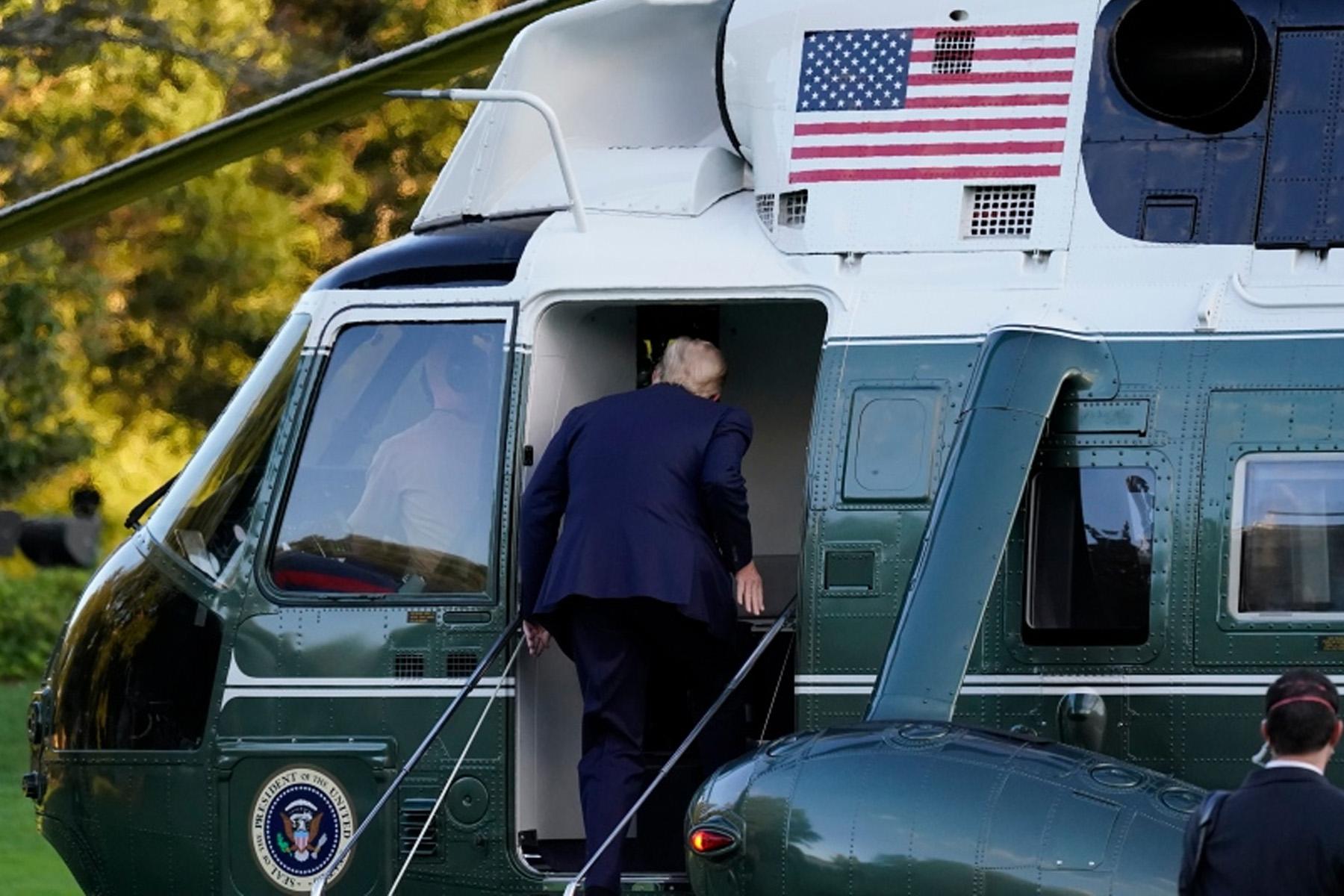 دونالد ترامپ پس از تشخیص کووید19 به بیمارستان نظامی منتقل شد