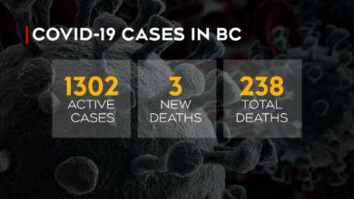 تصویر از بریتیش کلمبیا : 161 مورد جدید ابتلا به کووید19 و 3 مورد مرگ و میر ناشی از ویروس کرونا