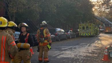 تصویر از آتش سوزی گسترده یک ساختمان در مونترال باعث تخلیه ده ها خانواده از خانه های خود شد