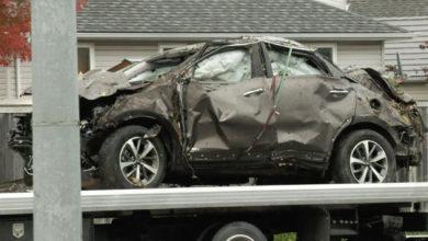 تصویر از حادثه تصادف دو خودرو در کینگستون : یک دانش آموز 16ساله گرید یازده کشته و 8 نفر زخمی شدند
