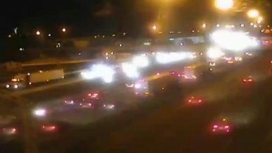 تصویر از بزرگراه 401 محدوده اسکاربرو : در پی تصادف دو خودرو یک مرد کشته شد