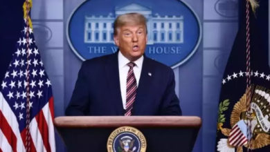 تصویر از متن بیانیه دونالد ترامپ ، رئیس جمهور ایالات متحده آمریکا