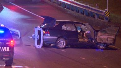 تصویر از راننده مست در سمت اشتباهی بزرگراه رانندگی کرد و حادثه آفرید