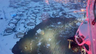 تصویر از رانش زمین در نروژ باعث مجروحیت 9 نفر و آواره شدن 200 نفر از ساکنین منطقه شد