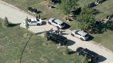 تصویر از سه متهم تیراندازی سه گانه تحت تعقیب پلیس در قبرستانی در برمپتون دیده شدند