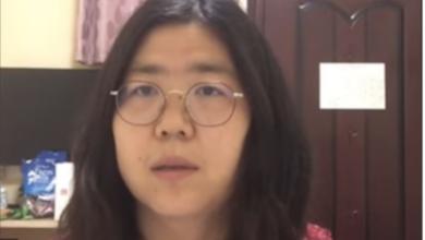 تصویر از محکومیت ژانگ ژان روزنامه نگار چینی بدلیل ارائه گزارشات اولیه در مورد ویروس کرونا در ووهان