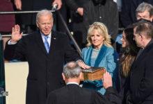 تصویر از جو بایدن بعنوان چهل و ششمین رئیس جمهور ایالات متحده آمریکا سوگند یاد کرد
