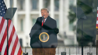 تصویر از رئیس جمهور دونالد ترامپ برای مراسم تحلیف جو بایدن اعلامیه اضطراری صادر کرد