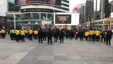 تصویر از شهردار تورنتو : اعتراضات علیه محدودیت های رفت و آمد در مرکز شهر ناامن بود