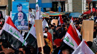 تصویر از سالگرد ترور قاسم سلیمانی و تجمع شبه نظامیان عراقی با حمایت ایران در بغداد