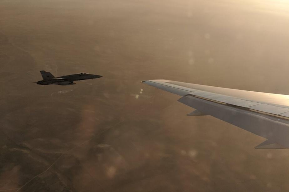 تصویر از فرود اضطراری پرواز AC837 ایرکانادا در اسپانیا