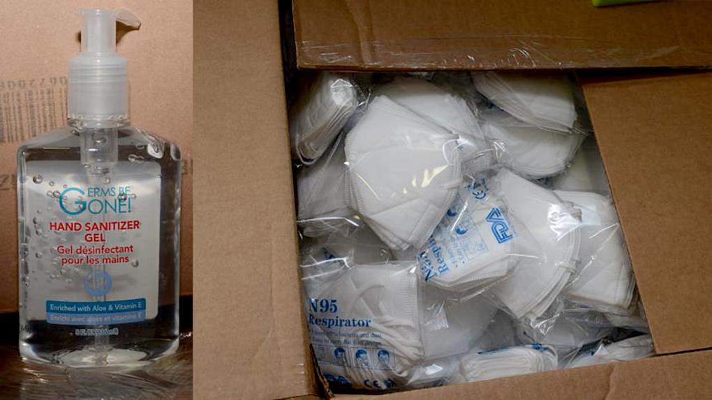 تصویر از کالای سرقتی و قاچاق : کشف و ضبط ۸۰۰ هزار دلار ماسک N95 و مواد ضدعفونی دست سرقتی