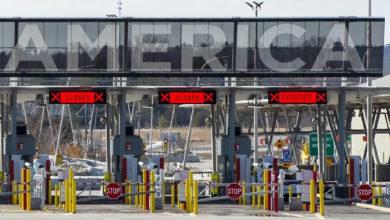تصویر از مرز میان کانادا و ایالات متحده حداقل تا ۲۱ مارس برای سفرهای غیر ضروری تعطیل خواهد ماند