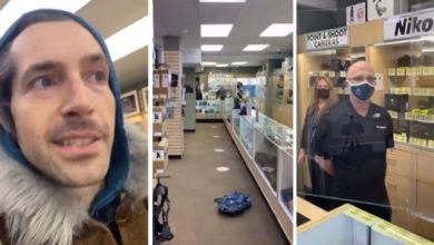 تصویر از یک فرد ضد ماسک یکی از کسبه ونکوور را مورد هدف قرار داد و باعث نگرانی کارکنان شد