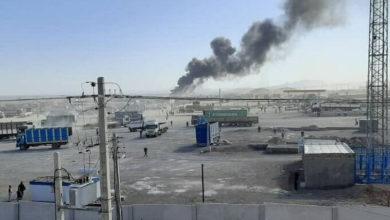 تصویر از گمرک افغانستان در مرز ایران برای دومین بار طی یک ماه گذشتهطعمه حریق شد