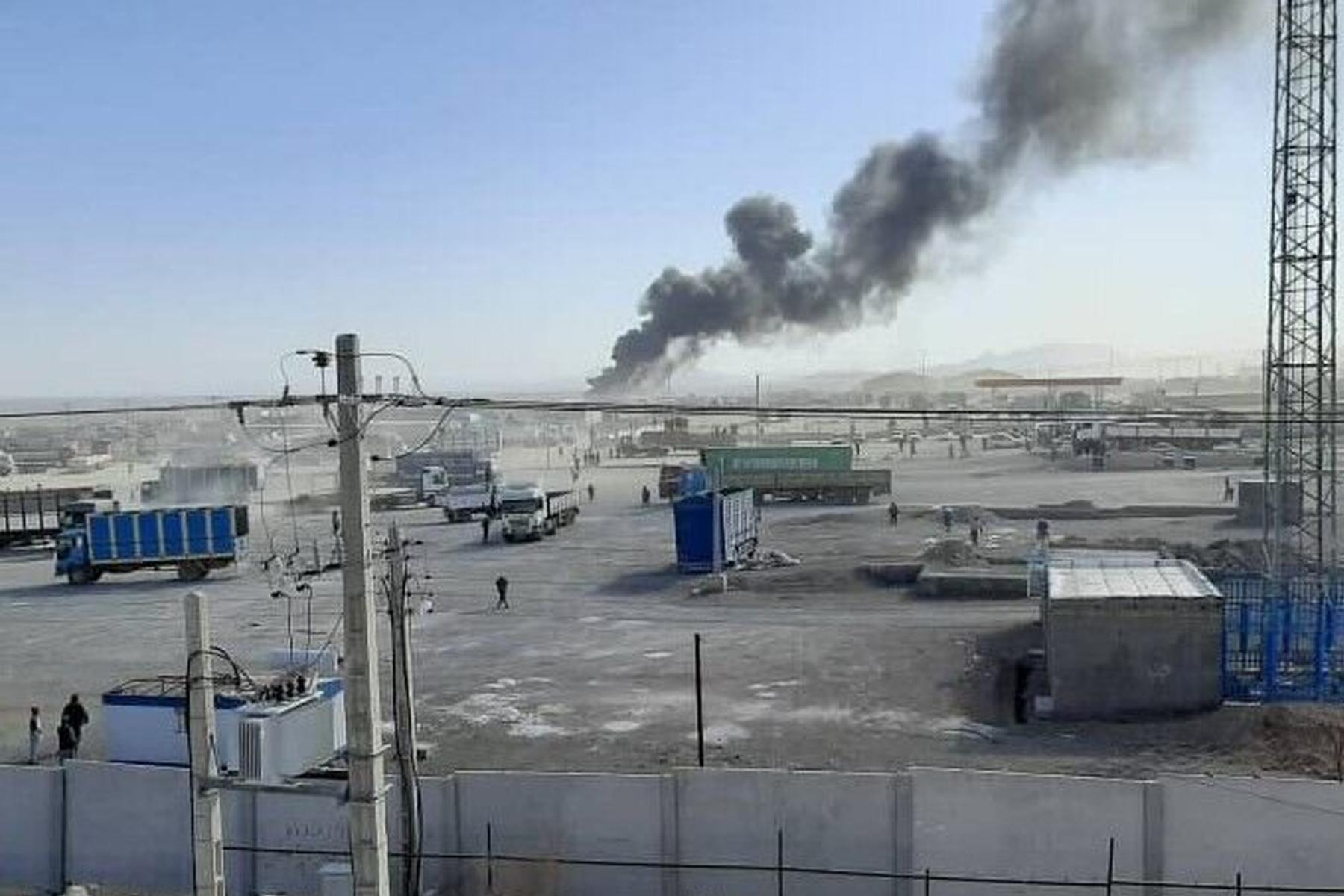 گمرک افغانستان در مرز ایران برای دومین بار طی یک ماه گذشتهطعمه حریق شد