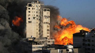 تصویر از حملات اسرائیل باعث کشته شدن فرمانده ارشد حماس شد؛ فلسطینی ها موشک شلیک کردند