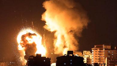 تصویر از درگیری های غزه با حملات موشکی و حملات هوایی دو طرف اسرائیل و فلسطین شدت می گیرد