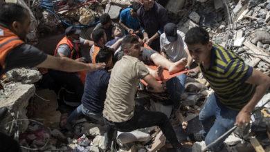 تصویر از حملات هوایی اسرائیل به غزه باعث مرگ دهها نفر شد؛ تلاشها برای برقراری آتشبس شتاب گرفت