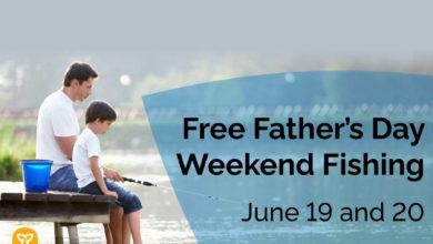 تصویر از امکان ماهیگیری و استفاده از پارک رایگان در آخر هفته روز پدر در انتاریو