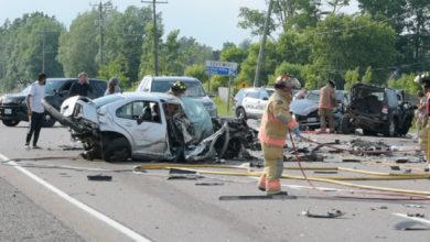 تصویر از مجروحیت شش نفر بر اثر تصادف شدید در بزرگراه ۶ همیلتون در انتاریو