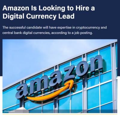 شرکت اینترنتی آمازون به دنبال استخدام یک مدیر گروه ارز دیجیتال است