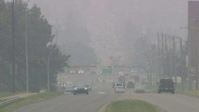 تصویر از صدور اطلاعیه ویژه کیفیت هوا به دلیل میزان بالای دود ناشی از جنگل سوزی در تورنتو