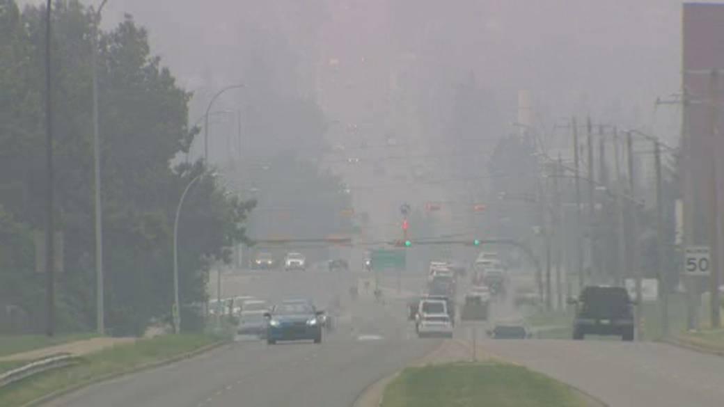 صدور اطلاعیه ویژه کیفیت هوا به دلیل میزان بالای دود ناشی از جنگل سوزی در تورنتو
