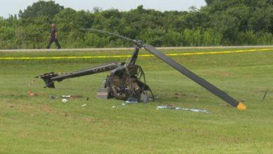تصویر از سقوط هلیکوپتر در برنتفورد انتاریو در حال بررسی است