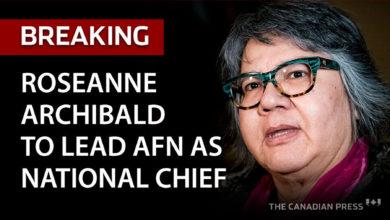 تصویر از رز آن ارچیبالد اولین زنی است که مجمع فرست نیشن را به عنوان رئیس ملی رهبری میکند