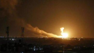 تصویر از حمله موشکی اسرائیل به مواضع شبهنظامیان ایران در قنیطره سوریه ؛ انفجارها تلفات جانی نداشت