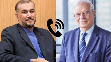 تصویر از جوزب بورل در گفتگوی تلفنی با حسین امیرعبداللهیان خواستار از سرگیری سریع مذاکرات هستهای شد
